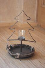 Adents-Tischdeko mit 1 Teelichtglas♥Tannenbaumform♥H 35 cm♥Standwindlicht Advent