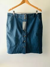 CR Love Sz M (12) Trenery by Country Road Chambray Skirt Denim