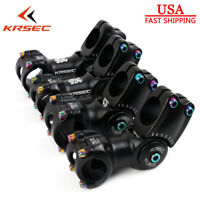 KRSEC MTB Bike Stem Aluminum 25.4/31.8mm Bar Stem Ajustable Angle 90/110mm 1-1/8