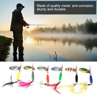 6PCS Fishing Lures Metal Spinner Spoon Sequins Hook Hard Bait Fishing Tackle Set