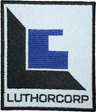 Superman Smallville White Luthorcorp Logo Embroidered Patch Sew/Iron-on 10cm