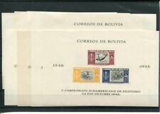 BOLIVIA MNH 1951 SPORTS 8 BLOCKS -  350