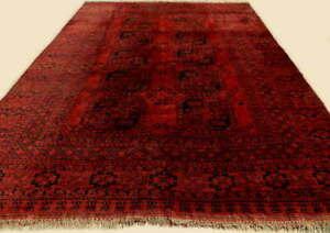 Original Tapis Afghan Erzari Ancien Laine Fait Main 354 x 257