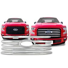 Chrome Grille Overlay FITS 2015 2016 2017 Ford F150 F-150 F 150 XLT Model ONLY!