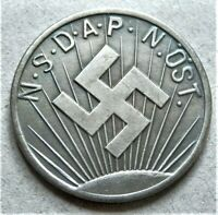 WW2 GERMAN COMMEMORATIVE COLLECTORS COIN 50 GROSCHEN 1936-37 NSD AP
