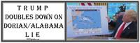 anti Trump: DORIAN/ALABAMA MAP  humorous political bumper sticker