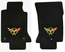 LLOYD Classic Loop™ Black FLOOR MATS Yellow C5 logos 1997-04 Chevrolet Corvette