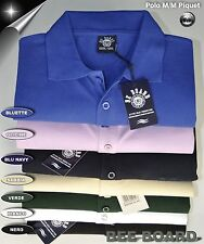 POLO MEZZA MANICA CALIBRATA COLOR BE BOARD COTONE PIQUET MISURE 3XL 4XL 5XL 6XL