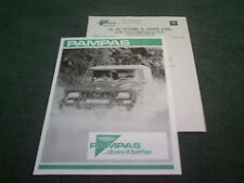 1982 Portaro Pampas 4x4 260 DL/dp/UDP/D-Reino Unido prospecto Folleto + carta