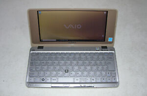 Sony Vaio VGN P61S P Series Gold UMPC Intel Z550 2.00GHz 32SSD 1GB WIN 10