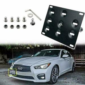 Bumper Tow Hook License Plate Mounting Bracket Fit Infiniti Q50 Q60 Nissan GTR
