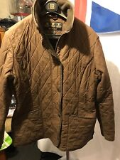 Ladies Brown Stud / Zip Fastening Polarquilt Barbour Jacket Size 12 G298