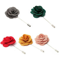 Lapel Flower Daisy Handmade Boutonniere Stick Brooch Pin Mens Accessories  LS