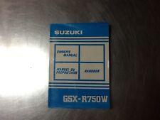 1991 Suzuki GSX-R750W Owners Manual