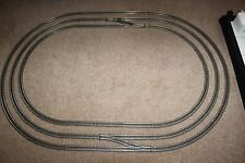 HORNBY NICKEL SILVER 3RD,2ND & 1ST RADIUS OVALS OF INTERCONNECTING TRACK