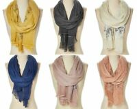 Women Wrap Scarf Polyester Shawl Floral Printed Casual Girls Long Sheer Scarves