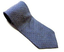 NAUTICA Neck Tie Medium BLUE and YELLOW Gold CHECKS 100% SILK Necktie