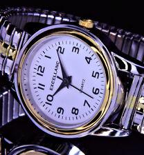 Excellanc Damen Armband Frauen Uhr mit Edelstahl Zugband SIlber Gold Farben