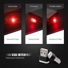 New 1PCS Universal Car Mini USB LED Interior Light Neon Atmosphere Lamp Red