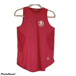 Spartan Race Craft Women's Pink Logo Muscle tank Top, Size M Medium Open Back