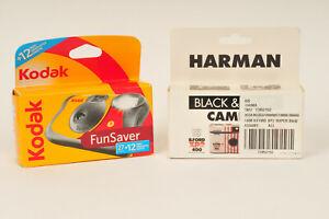 2 Disposable Cameras by Kodak & Ilford - Colour & Black & White