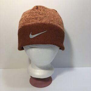 Nike Dri-Fit Athletic Running Beanie OSFM Orange Rust Color Excellent Condition