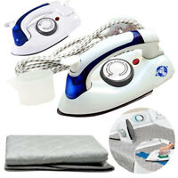 700W Non Stick Travel Iron Easy Folding Steam Dry Free & Easy Ironing Cloth Mat