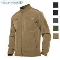 Mens Military Tactical Jackets Hunting Softshell Army Jackets Casual Coats Tops