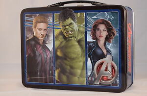 Avengers 2 Age of Ultron Embossed  Tin Lunchbox - USA Import BRAND NEW!!!