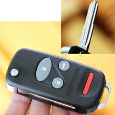 Replace For Honda S2000 Insight Odyssey Flip Key Remote Fob Shell Case 4 Button