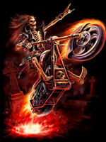 DIY 5D Diamond Painting Cross Skull Man Motorcycle Full drill Handicraft 6398X