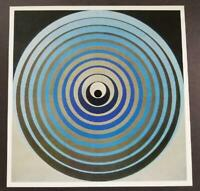 "Victor Vasarely ""0771-Oervegn"" Mounted Offset Color Lithograph 1971"