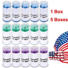 100pcsbox Dental Disposable Micro Brush Eyelash Tooth Applicators 15 2 25mm