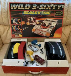 Scalextric 'Wild 3-Sixty' Slot Car Racing Set - Porsche 962C - Boxed - Excellent