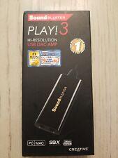 Creative Labs Sound Blaster PLAY! 3 External Sound Card & USB DAC Amp - SB1730