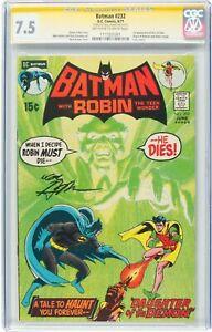 1971 Batman #232 NEAL ADAMS SIGNATURE CGC SS 7.5 VF- OWW 1ST App of RA'S AL GHUL