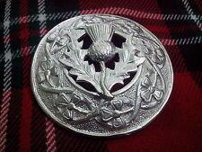 TC da uomo scozzese kilt FLY Plaid SPILLA CARDO placcato argento /