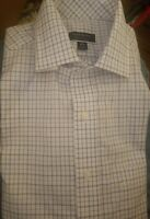 Club Room Mens Dress Shirt White/Blue Size 16 34/35 Button Down $55
