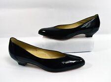 Valley Vintage 1950s Black Patent Leather Pump Heels Size 8 AA/AAAA Narrow EUC