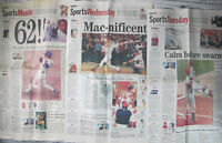 Mark McGwire Sammy Sosa Chicago Tribune 1998 Sports Section Home Run Record