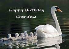 Personalised Swan Birthday Card