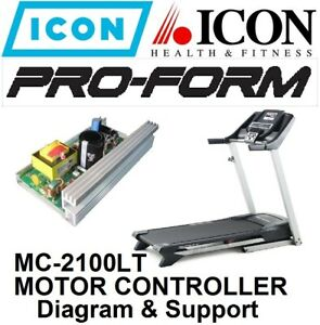 TREADMILL PROFORM HEALTHRIDER ICON MC2100LT REV- MOTOR CONTROLLER DIAGRAM