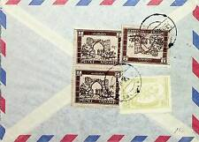 AFGHANISTAN RARE 4 VALUES ON KABOUL AIRMAIL COVER TO GERMANY