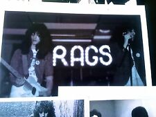 RAGS - 1973-1975 NY Glam Band - Paperwork Collection–New York Dolls/KISS Aucoin