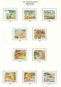NEW ZEALAND # 1335-1344  VF-MH  1996 SEASIDE ENVIRONMENT BOOKLET STAMPS