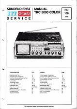 Service Manual für ITT Graetz TRC 5000 color