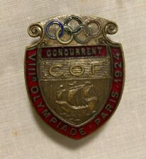 1924 Olympic participation badge