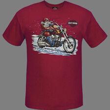 Harley-Davidson Men's Red Santa Rides Holiday Short Sleeves T-Shirt R003786