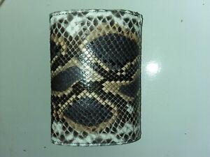 Multicolor PYTHON WALLET Genuine Python Snakeskin Trifold Wallet
