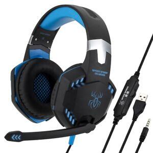 Speed Spider OS-G2000 Gaming Headset, Blue & Black